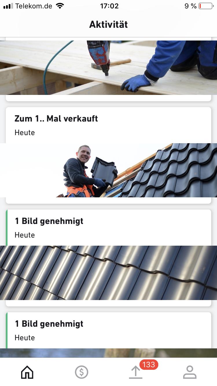 Verkauf shutterstock Dachziegel schwarz